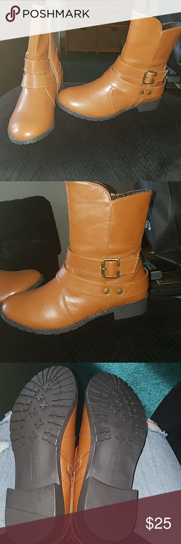 Comfortview tan boots 8.5 ww Brand new comfortview boots. Womens  8.5 ww, fit like a regular wide. Smoke free home comfortview Shoes Ankle Boots & Booties