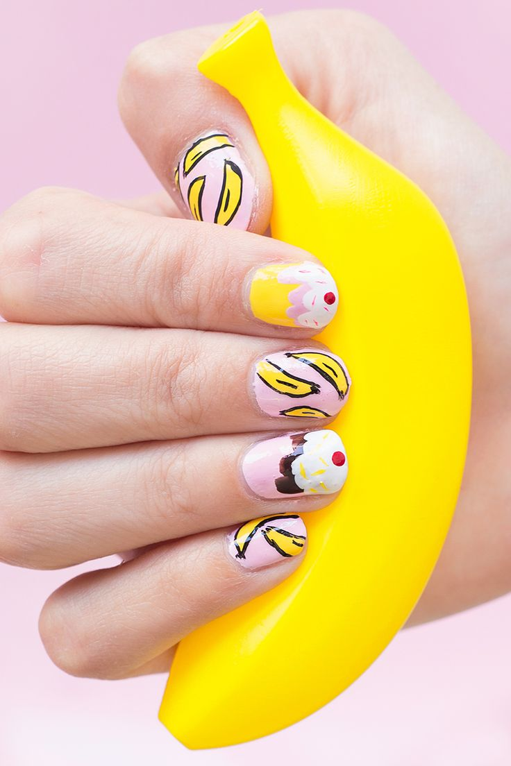 система картинка банана на ноготь найдете красивые иллюстрации