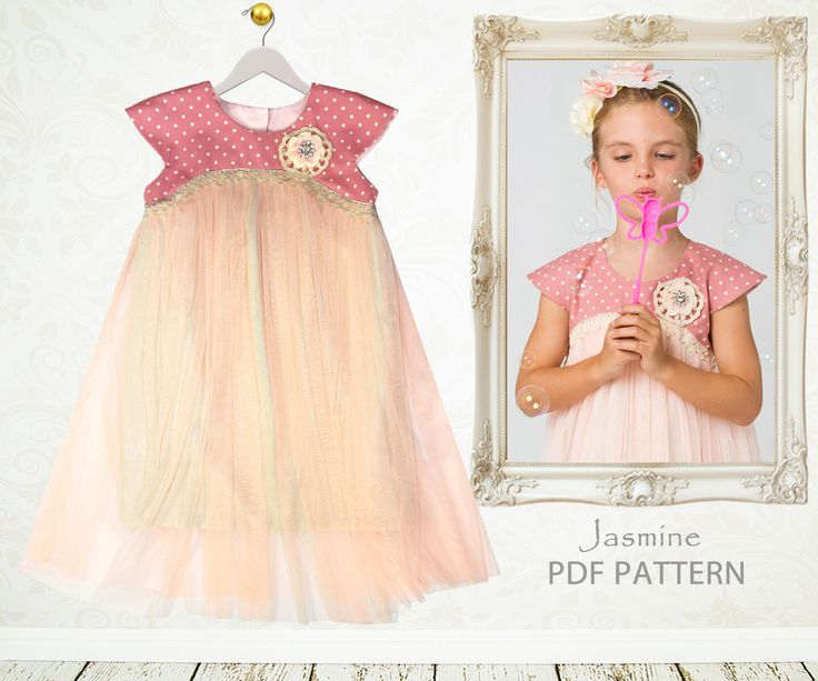Childrens Sewing Pattern PDF, Girls Dress Pattern pdf, Tutu Dress Pattern, Flower Girl Dress Pattern, Easy Sewing Pattern, JASMINE by MyChildhoodTreasures on Etsy https://www.etsy.com/listing/193663965/childrens-sewing-pattern-pdf-girls-dress