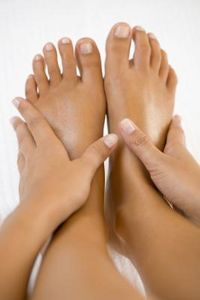 How to Get Rid of Dry, Crusty Skin on My Feet - Soak feet in 1 cup milk and 2 cups water. Rub with Pumice stone. Rinse off and then rub olive oil into feet.