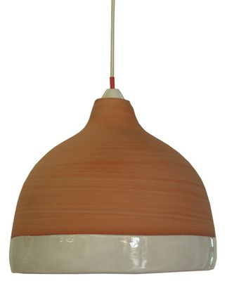 Porcelain Pendant Light handmade by Antonia Throsby. They look interesting and atmospheric hung in groups at different heights- or one alone in a corner is intimate and affective. SHOP :: Home & Furniture :: Lighting :: Porcelain Pendant Light - COUNTRY CULTURE
