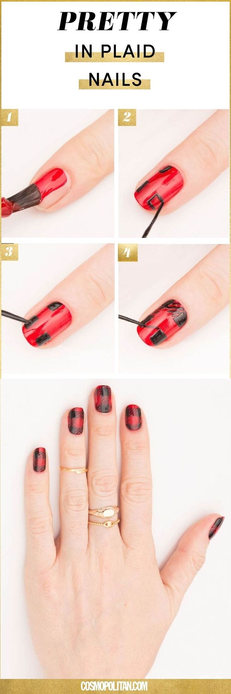Pins check out www mynailpolishobsession com for more nail art ideas - 7 Holiday Nail Art Ideas For 2017 Diy Christmas Nail Art Tutorials