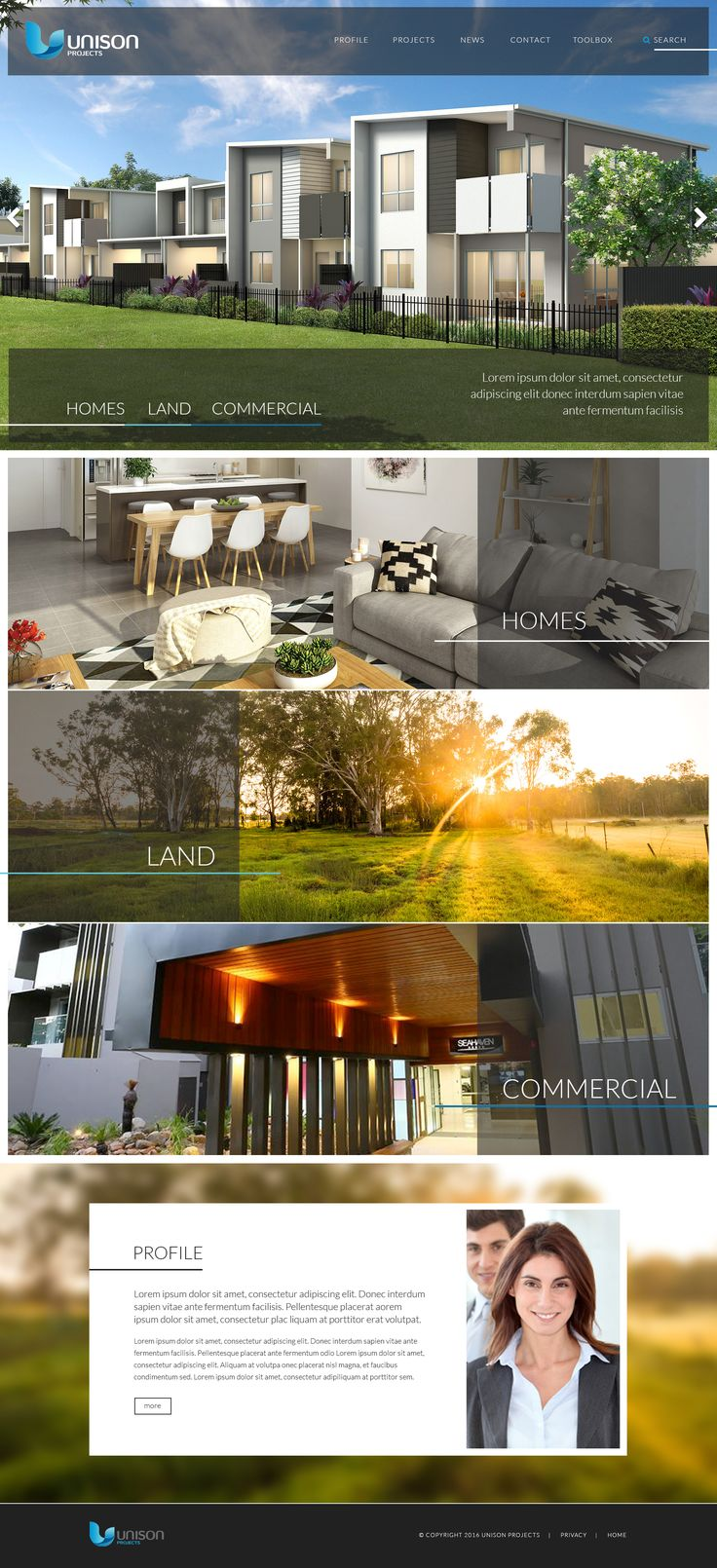Unison Projects is a private property development firm with over 15 years experience, across all sectors of the property market. Creating beautiful homes to not only live in and enjoy but be proud to own.  http://www.unisonprojects.net.au/  #‎pebbledesign‬ ‪#‎hotelwebdesign‬ ‪#‎hotelwebsites‬ ‪#‎webdesign‬ ‪#‎websitedesign‬ #ResponsiveWebDesign #stunningwebdesign #creativewebdesign #customwebdesign #webdesigninspiration