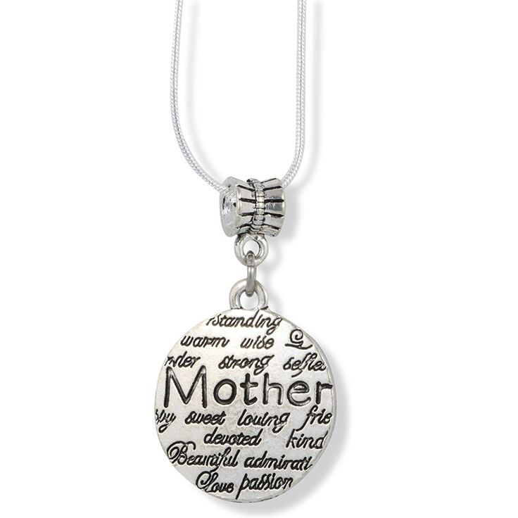 Mother with Wise Strong Loving Devoted Warm Love Passionate Charm Snake Chain Necklace