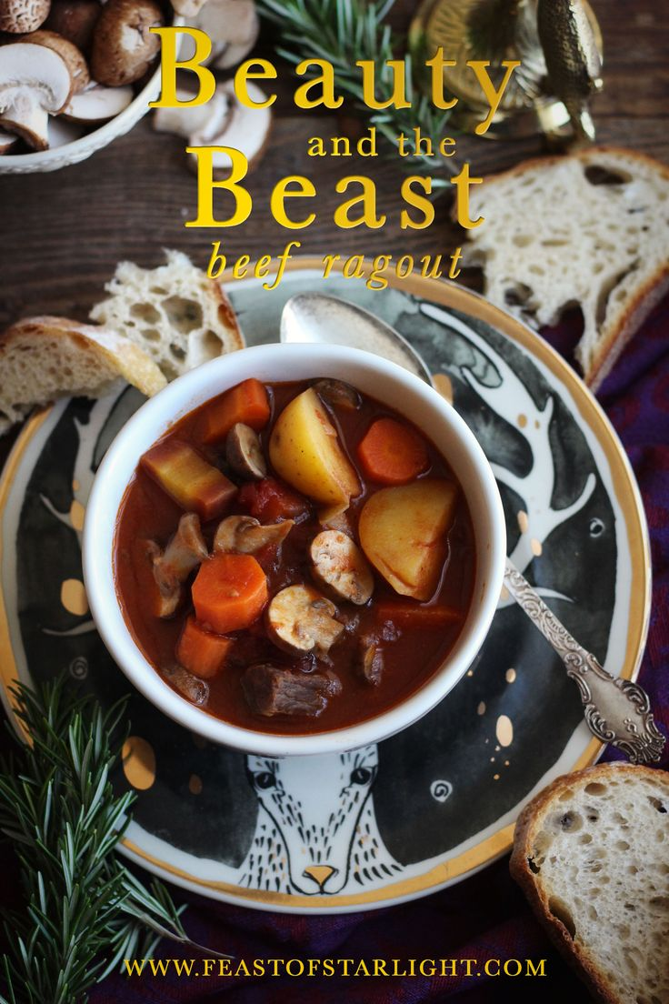 A recipe for beef ragout inspired by the Walt Disney movie, Beauty and the Beast.