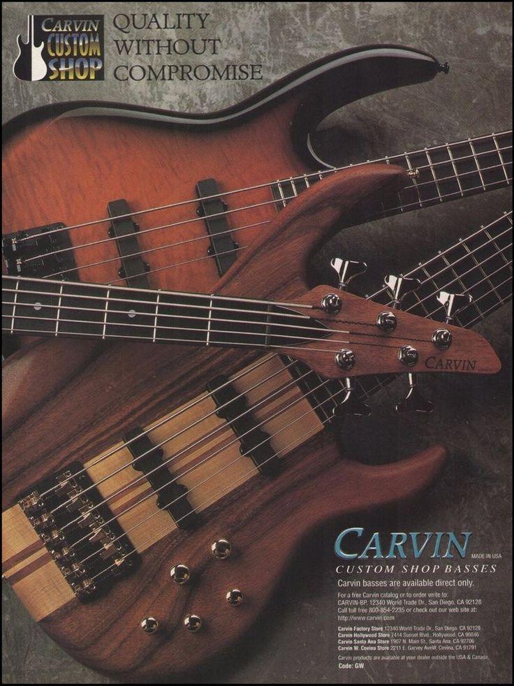 Carvin Custom Shop Series Bass guitar 8 x 11 advertisement
