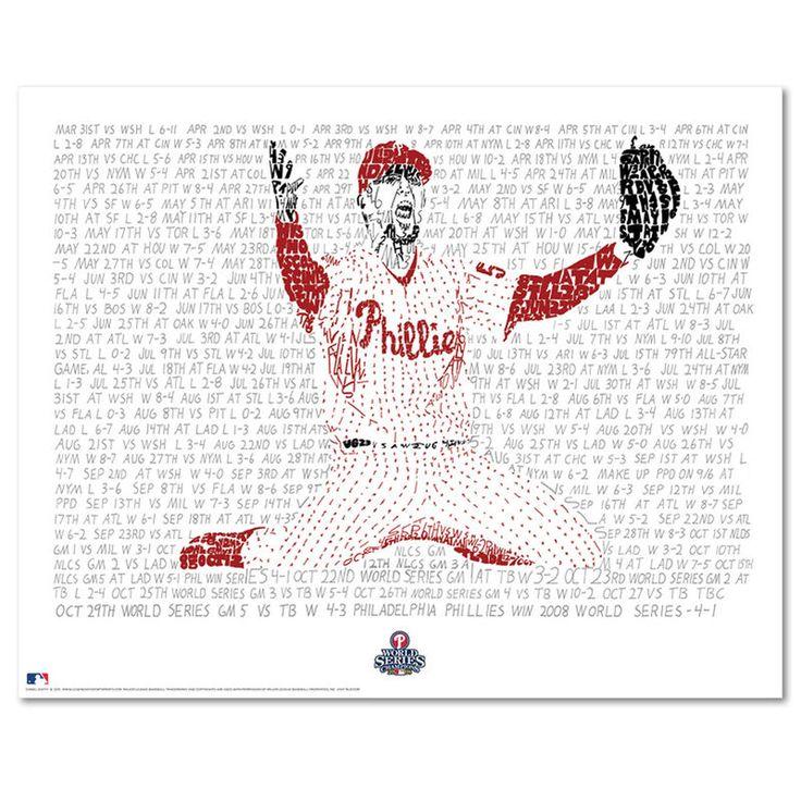 "Pat Burrell Philadelphia Phillies 16"" x 20"" The Road to the 2008 World Series Sports Art"