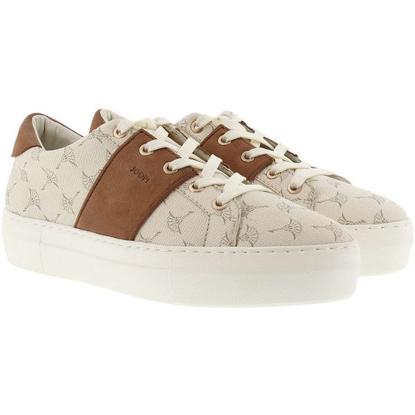 JOOP! Elaia Daphne Sneaker Offwhite (€139) ❤ liked on Polyvore featuring shoes, sneakers, champagne shoes, off white sneakers, joop, off white shoes and vintage white shoes