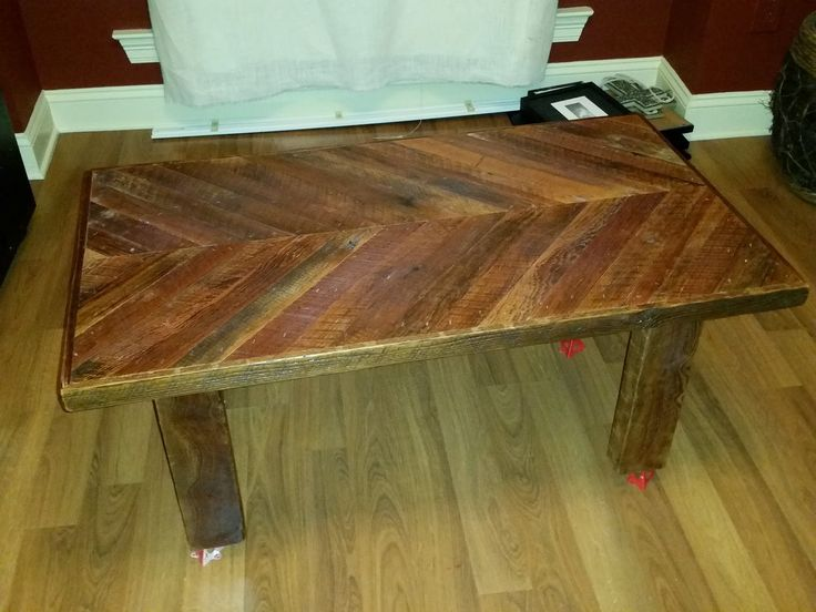 Coffee table from reclaimed pine taken from an old home in new orleans  Coffee table from - 235 Best Images About Reclaimed Wood Furniture. On Pinterest
