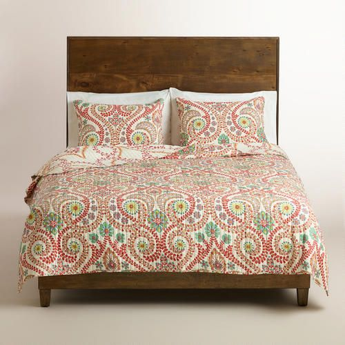 Treetop Quilt at Cost Plus World Market >> #WorldMarket Bed Makeover, Home Decor, Tips & Tricks