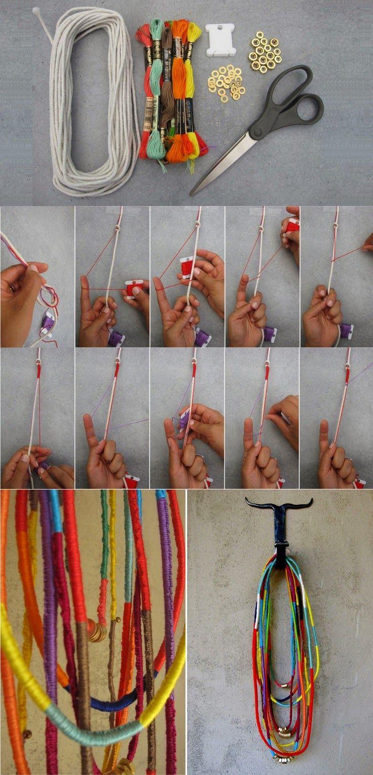 BeyazBegonvil I Kendin Yap I Alışveriş IHobi I Dekorasyon I Makyaj I Moda blogu: Kendin Yap I Renkli İplerle Kolye Nasıl Yapılır ?