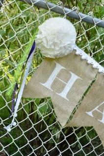 Little Birdie Secrets: burlap and paper wedding banners {tutorial} ... http://littlebirdiesecrets.blogspot.ca/2012/07/burlap-and-paper-wedding-banners.html#