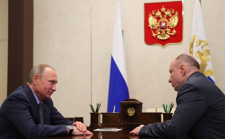 Встреча с президентом, председателем правления ГМК «Норильский никель» Владимиром Потаниным.
