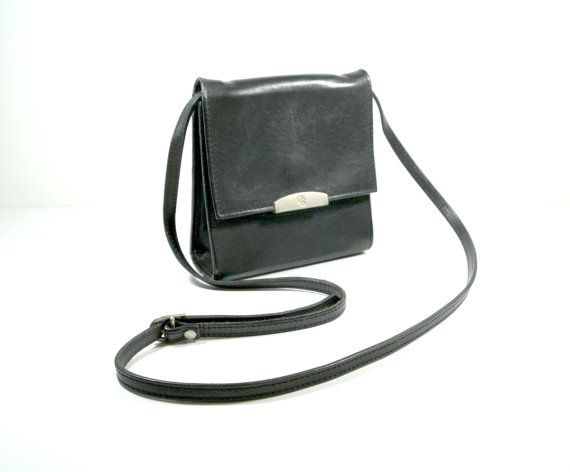 Vintage Crossbody Bags Leather Crossbody Bag by DKVINTAGEGALLERY