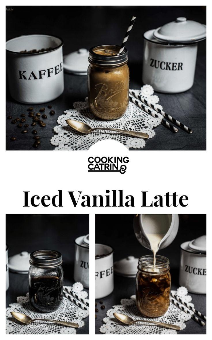 Rezept für kalorienarmen Iced Vanille Latte, Iced Latte Rezept, Iced Vanilla…