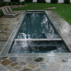 beautiful small pool and spa