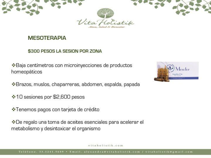 ⚛️Baja centímetros con las sesiones de mesoterapia 💯Súper precio de $300 pesos por zona 🔝10 sesiones en 2,600 pesos ✴️Una excelente alternativa para reducir tallas