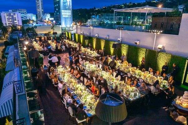 Gorgeous Rooftop Wedding Ceremony Reception In West Hollywood And Venues