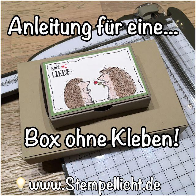 Box ohne Kleben mit Anleitung für Gutschein in Scheckkartengröße mit Love you Lots von Stampin´Up!