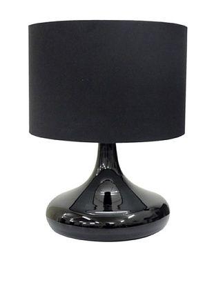 Integrity Lighting Opal Glass Table Lamp, Black