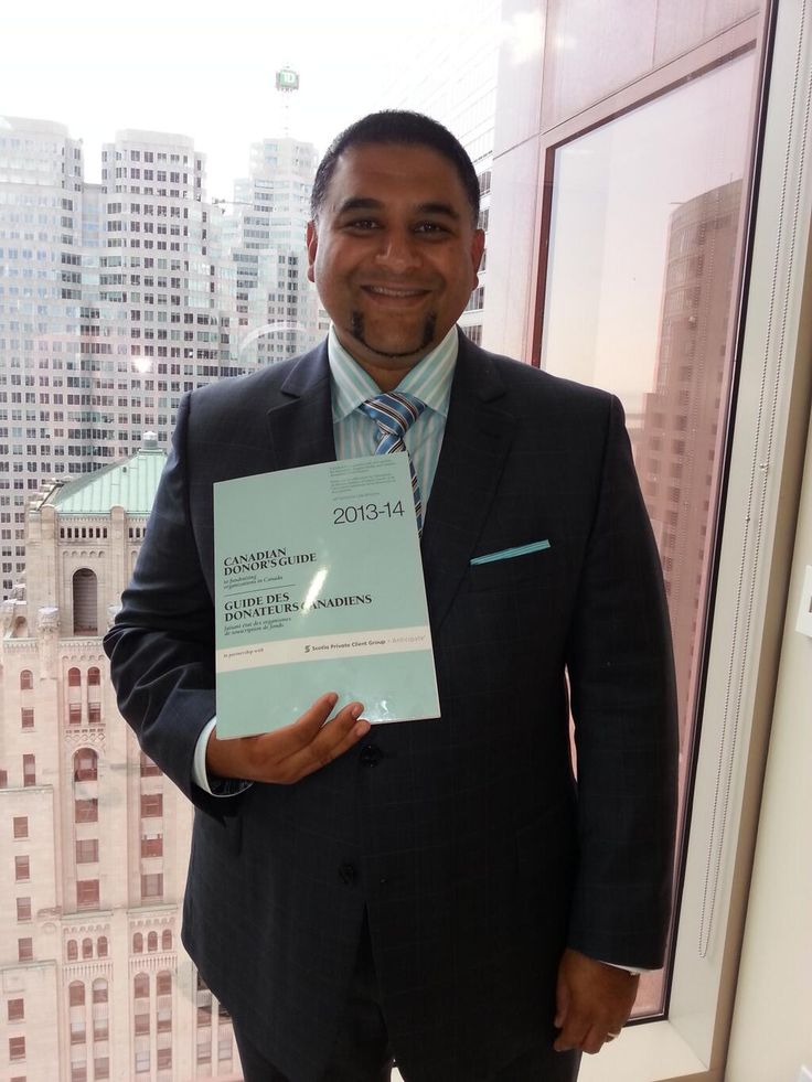 Paul Nazareth - did he dress for success so that he would match the new edition of the Canadian Donor's Guide?  Seems so.  Thanks, Paul!