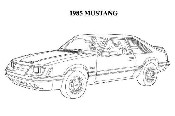 old ford mustangs coloring pages - photo#11