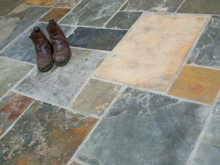 Slate Floors With Multi Sized Tiles Multi Colour Slate
