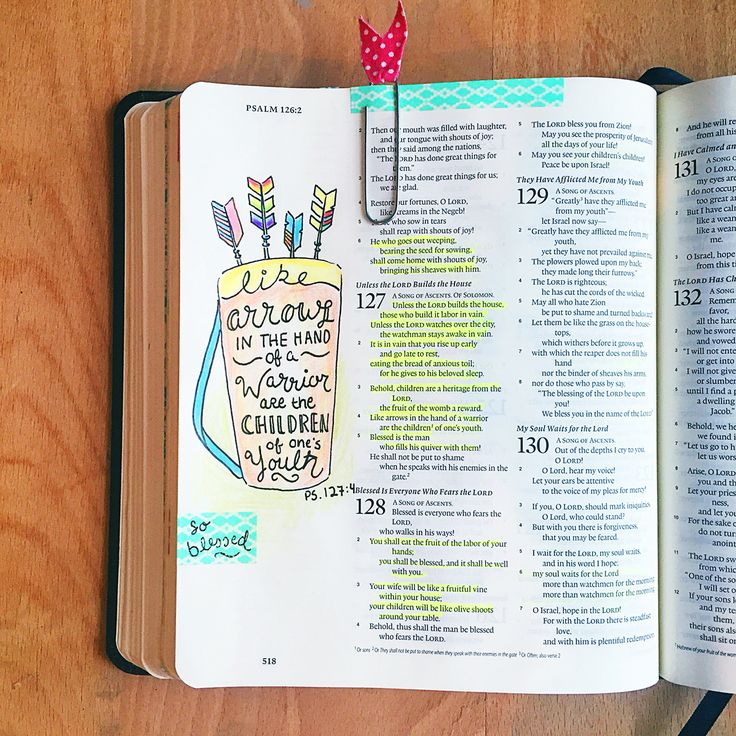 Psalm 127 psalm art illustrated faith bible journaling for Hand lettering bible journaling