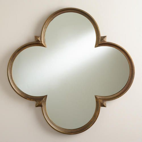 One of my favorite discoveries at WorldMarket.com: Gold Quatrefoil Nala Mirror.  www.astralriles.com #ReDesign #ReInvent #ReLive