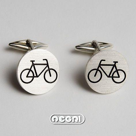 """Gemelli in Argento """"passeggiando in bicicletta""""  #gioielli #argento #artigianato #brooch #silver #luxury #jewels #jewellery #handmade"""
