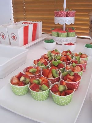 fruit cup - kids healthy party food (To be honest, Im always a little dubious…