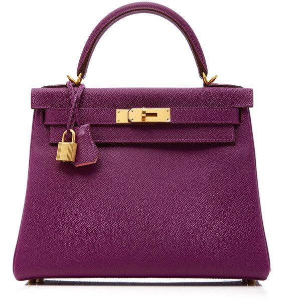 Heritage Auctions Special Collections Hermes 28cm Anemone & Rose... ($27,000) ❤ liked on Polyvore featuring bags, handbags, hermes, purple, rose handbag, rose purse, real leather purses, purple handbags and real leather handbags