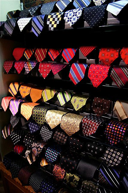 I actually love shopping for men's clothes more than women's. Especially ties, I just love picking tie and shirt combos.