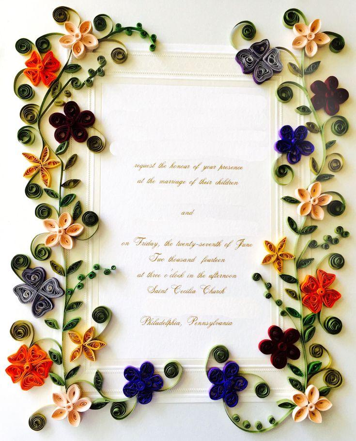 Framed Wedding Invitation Shadowbox - Birth Announcement Keepsake - vintage style personalized wedding gift - Framed Wedding Keepsake