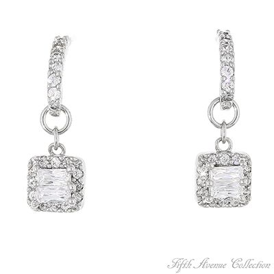 """""""White Wine"""" and glowing candles set the mood for this romantic jewellery designed with blazing AAA cubic zirconia.    Earrings with sterling silver hooks  Nickel and lead free. £33"""