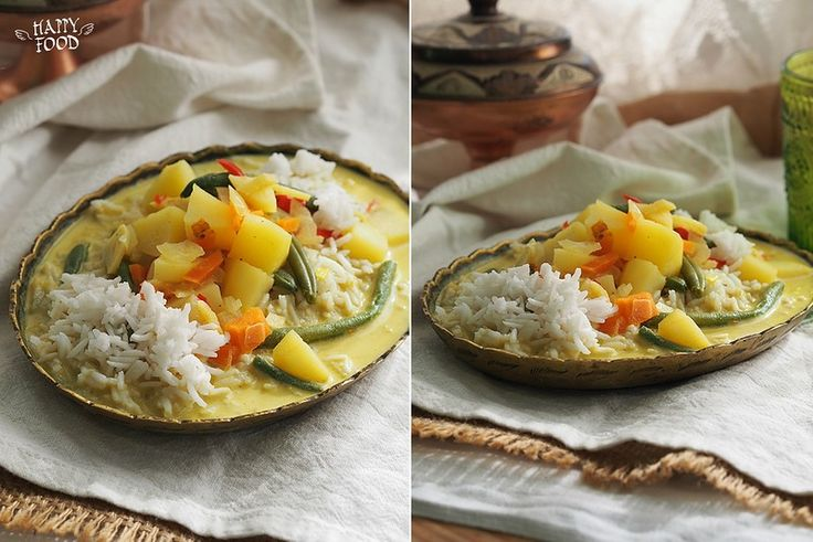 Вегетарианский карри с рисом (Готовлю с помощью посуды iCook™) - HAPPYFOOD