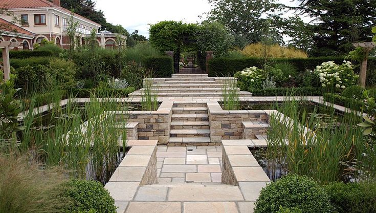 10 best images about landscape water feature on for Formal koi pond