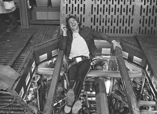 elliestorm:    Harrison Ford on the set of Star Wars – The Empire Strikes Back.
