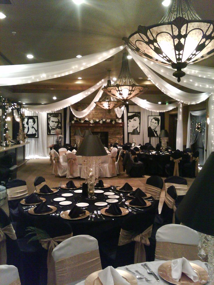 Old Hollywood Christmas Party at D'Andrea Golf Course for Premier Events and Design