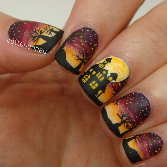 Instagram media by cottonconey - Halloween #nail #nails #nailart