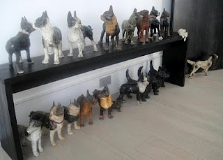Peri Wolfman and Charles Gold. vintage boston terrier cast iron doorstops.