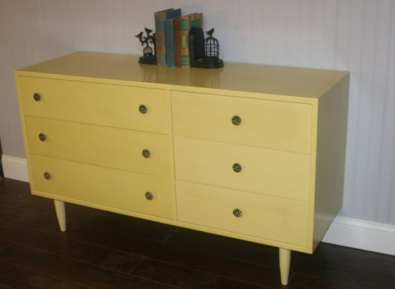 Vintage Mid Century Dresser With Asymmetrical Drawers Would Make A Great Buffet