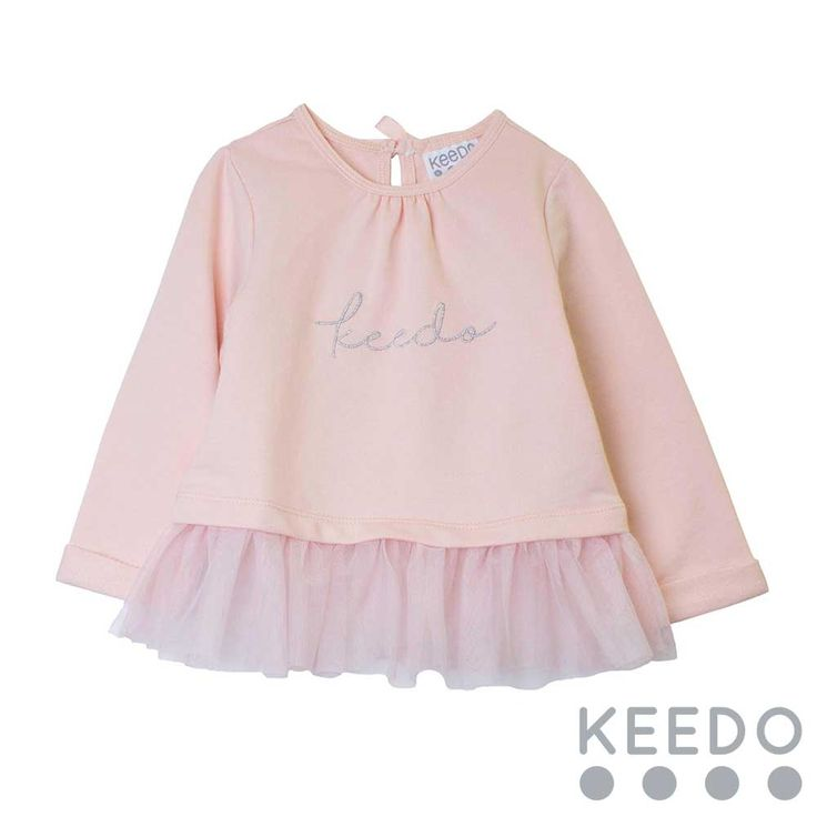 Rose Sweater Add a warm over top to your little lady's winter wardrobe. The frill detail adds an element of fun