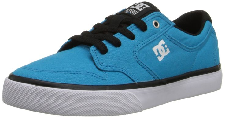 DC Nyjah Vulc TX Skate Shoe (Little Kid/Big Kid),Turquoise/Black,4 M US Big Kid. Nyjah huston's signature model.