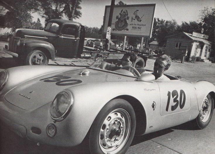 James Dean in his Porsche 550 Spyder
