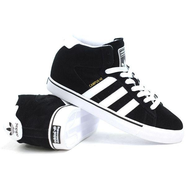 huge discount ef2f0 0f224 ... Adidas Campus Vulc Mid (Black 1Run WhiteMetallic) Shoes ❤ liked ...