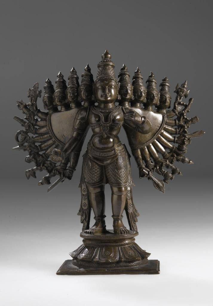 Figure of Vishnu with attributes, used in religious observances, bronze: India, 19th century © National Museums Scotland