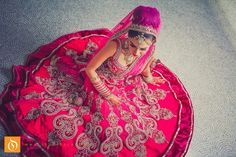 Hot pink bridal lengha - Studio Orange