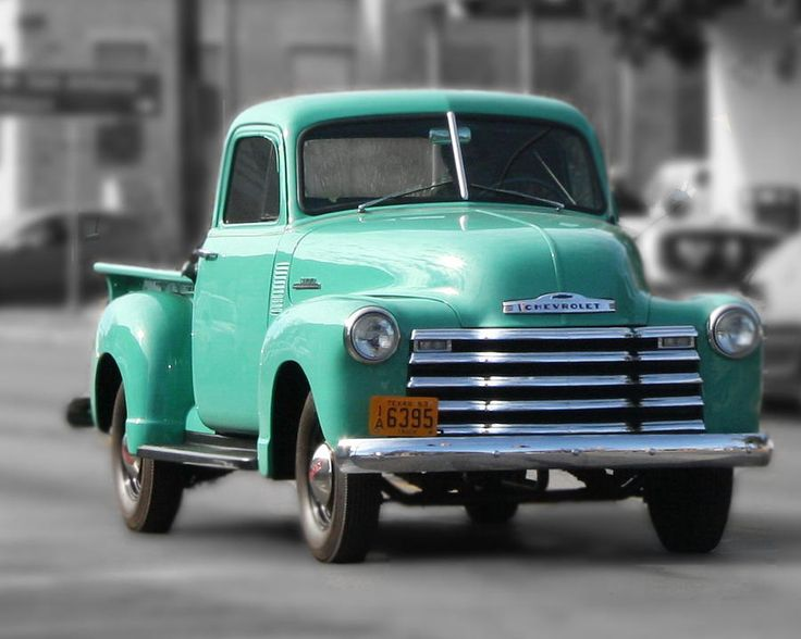 Old Pickup Truck Photo Teal Chevrolet
