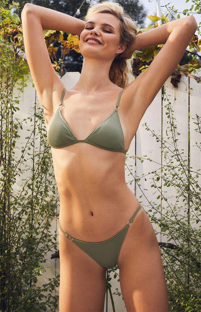1c7b37185e LA Hearts Green Pacifica Ring Bikini Bottom